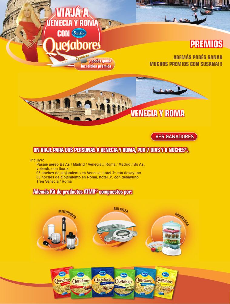 """Landing page Campaña """" Sancor Quesabores"""""""
