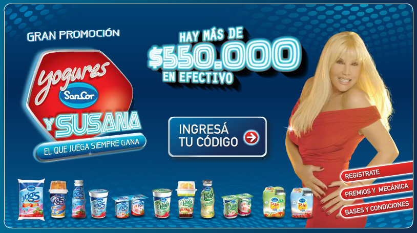 """Landing page Campaña """"Yogures Sancor y Susana"""""""